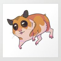 hamster Art Prints featuring Hamster by Suzanne Annaars