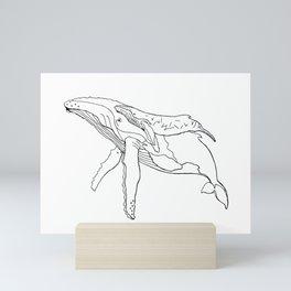 Humpback Whales Mini Art Print