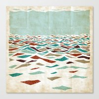 pool Canvas Prints featuring Sea Recollection by Efi Tolia