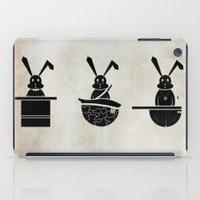 rabbits iPad Cases featuring rabbits by gazonula