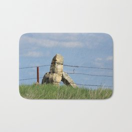 Kansas Corner Limestone Post with Blue Sky Bath Mat