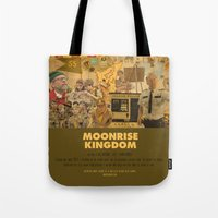 wes anderson Tote Bags featuring Moonrise Kingdom - Wes Anderson by Smart Store