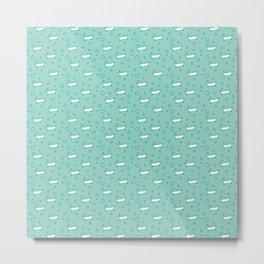 Rub a dub dub, bubbles and a bathtub (aqua) Metal Print