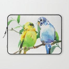 Budgies, Animal art, love, two birds bird artwork, bird pet Laptop Sleeve