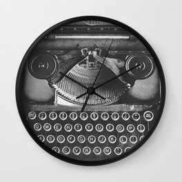 Vintage Typewriter - Before Email Wall Clock