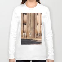 buddhism Long Sleeve T-shirts featuring Buddhism ancient place in Sanchi by Four Hands Art