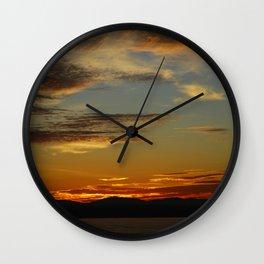 Sunset at Sunset Hill Wall Clock