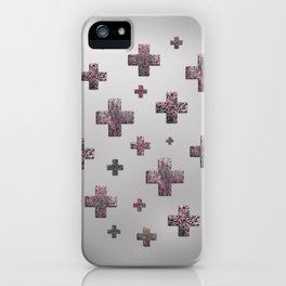 Crosses - Pink iPhone Case