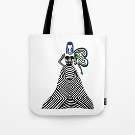 Abstract geometric quirky lady Tote Bag