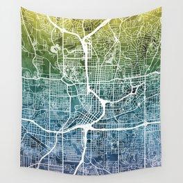 Atlanta Georgia City Map Wall Tapestry