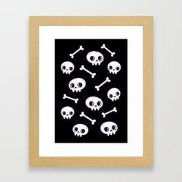 Cute Skulls Framed Art Print