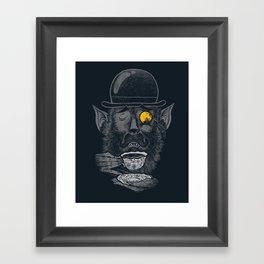 a british gentleman werewolf  Framed Art Print