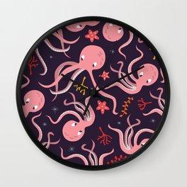 Octopus 001 Wall Clock