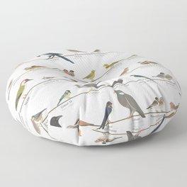 Native European Songbirds Floor Pillow