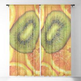 Fruit Salad Sheer Curtain