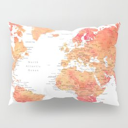 Travel is the only thing you buy that makes you richer world map Pillow Sham