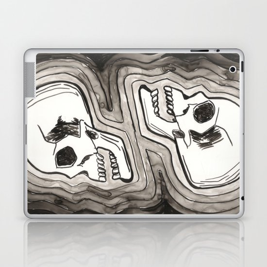 Two Skulls Laptop & iPad Skin