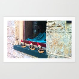Gnomes in a Row Art Print