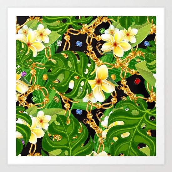 tropical elegant  Art Print