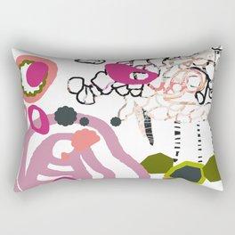Mixed media original art - abstract art prints - 'Echino 3' Rectangular Pillow