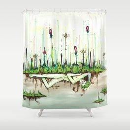 Flower Boy Shower Curtain