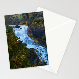 White Falls along the Berg Lake Trail in BC Stationery Cards