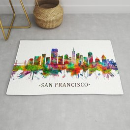 San Francisco California Skyline Rug