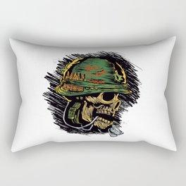zombie with military helmet. Rectangular Pillow