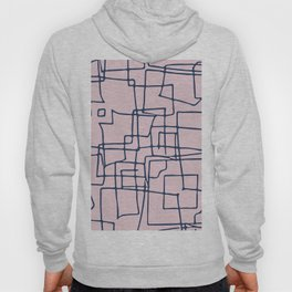 Decorative pink and blue abstract squares Hoody