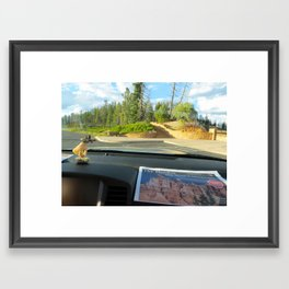 Lola on the Road, 002 Framed Art Print