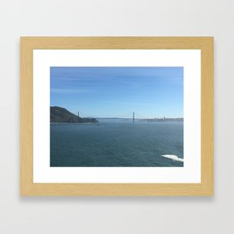 The Golden Gate Bridge viewed through the eyes of a future rocket scientist Framed Art Print