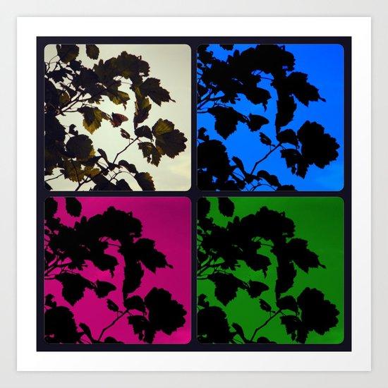 Monarch Silhouette x4 Art Print