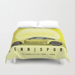 1974 ACID YELLOW 911 RSR OUTLAW FRANK CASSIDY Duvet Cover