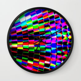 Violet Rays XII Wall Clock