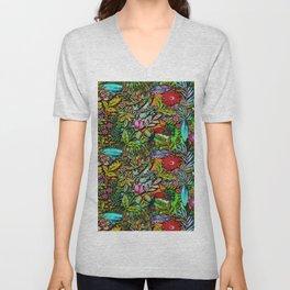 Colorful Bush Unisex V-Neck
