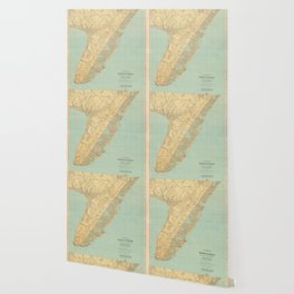 Vintage Map of Cape May NJ (1888) Wallpaper