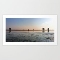 River Danube Early Morning Art Print