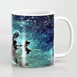 Galaxy: Teal Blue Pillars of Creation  Coffee Mug