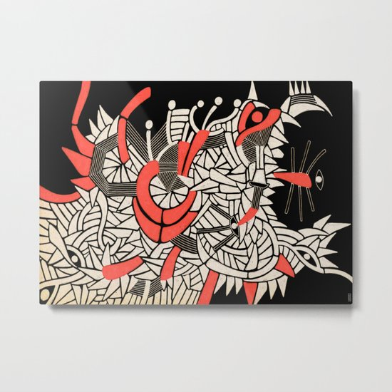 - partyrats - Metal Print