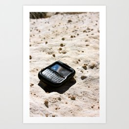 Blackberries and Sandstone Art Print