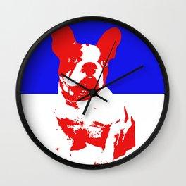 French Bulldog pop art Wall Clock