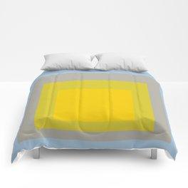 Block Colors - Yellow Green Grey Blue Comforters