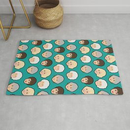 Golden Girls Green Pop Art Rug