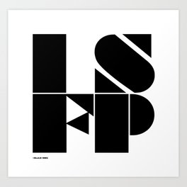 Type Type for ISFP Art Print