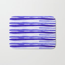Ultra Violet Watercolour Stripes Bath Mat