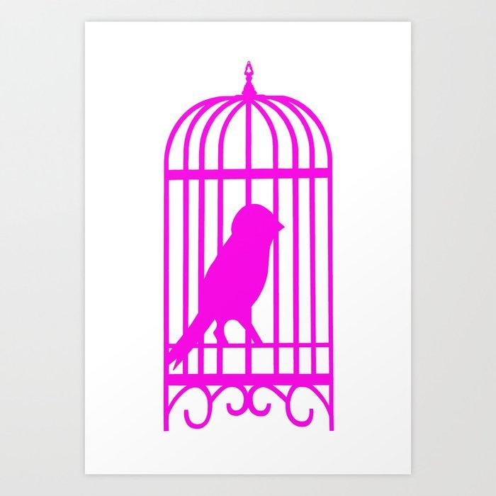 Pink Bird Art Print