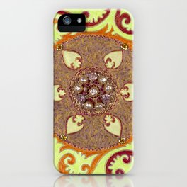 Suzani With Vintage Brooch iPhone Case