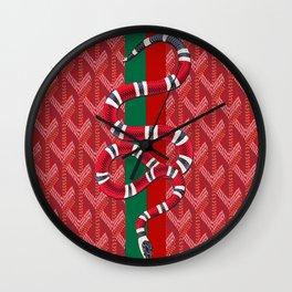Goyard Red Guccii Wall Clock
