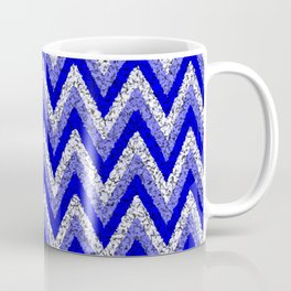 Blue Zigzag Coffee Mug