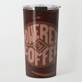 powered by coffee and swirls Travel Mug